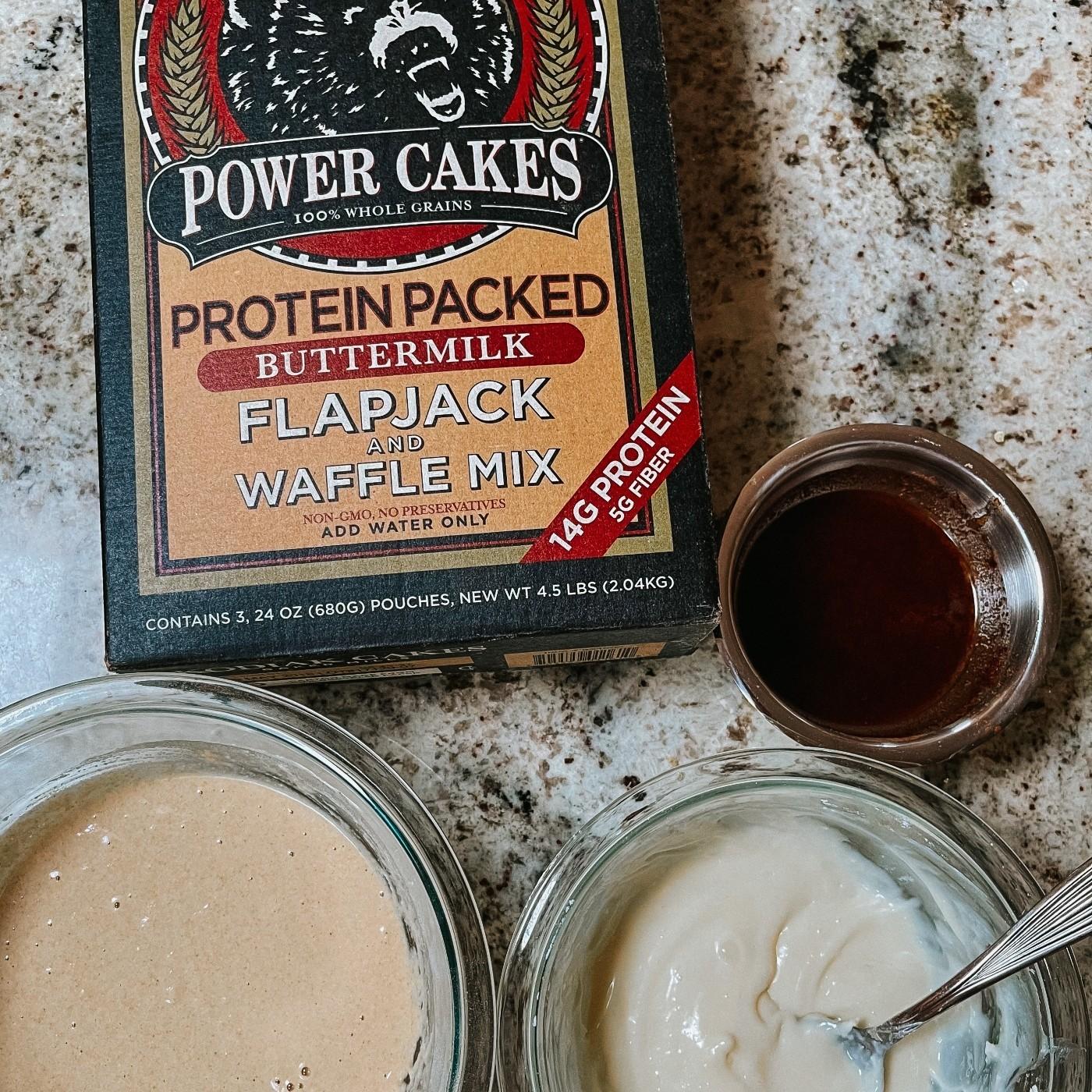 Cinnabun Protein Pancakes