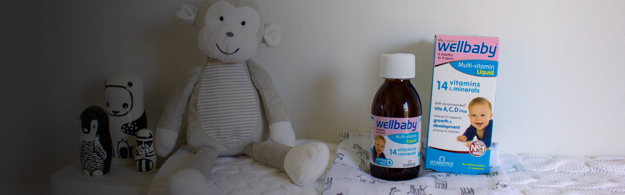 From sleeping to snuggles and sharing smiles, your baby has a lot to get done – and the right nutrition plays an important role in development. Wellbaby Multi-vitamin Liquid provides 14 vitamins and minerals, including those recommended by the Department of Health, in a gentle, delicious liquid.