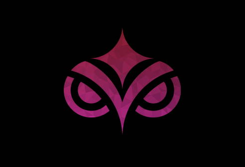 Pink textured Pokahnights logo on black background