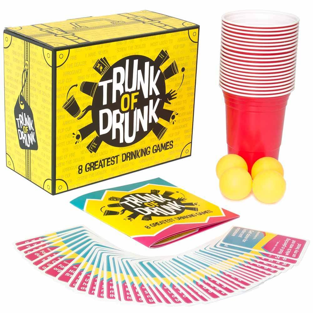 Trunk of Drunk drinking games beer pong and cards