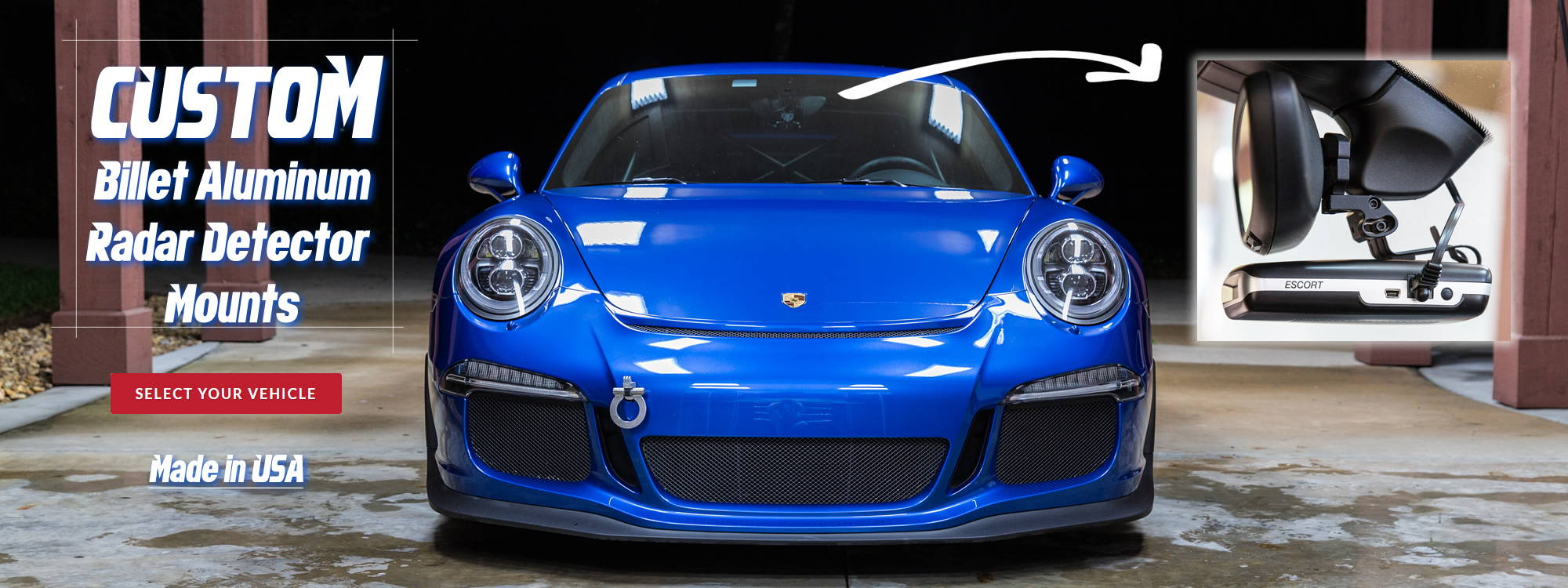 BendMount Custom Porsche radar mount