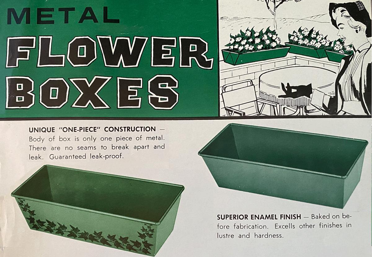 Novelty's original metal flower boxes