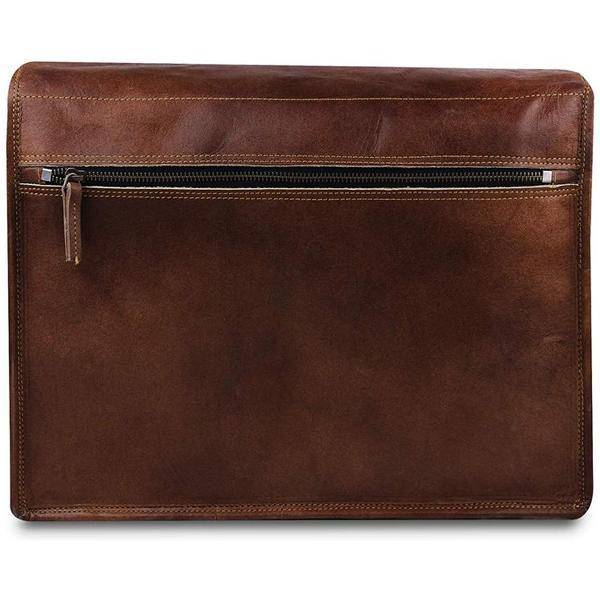 Leather Messenger Bag For 15 Inch Laptops For Men and Women - Satchel