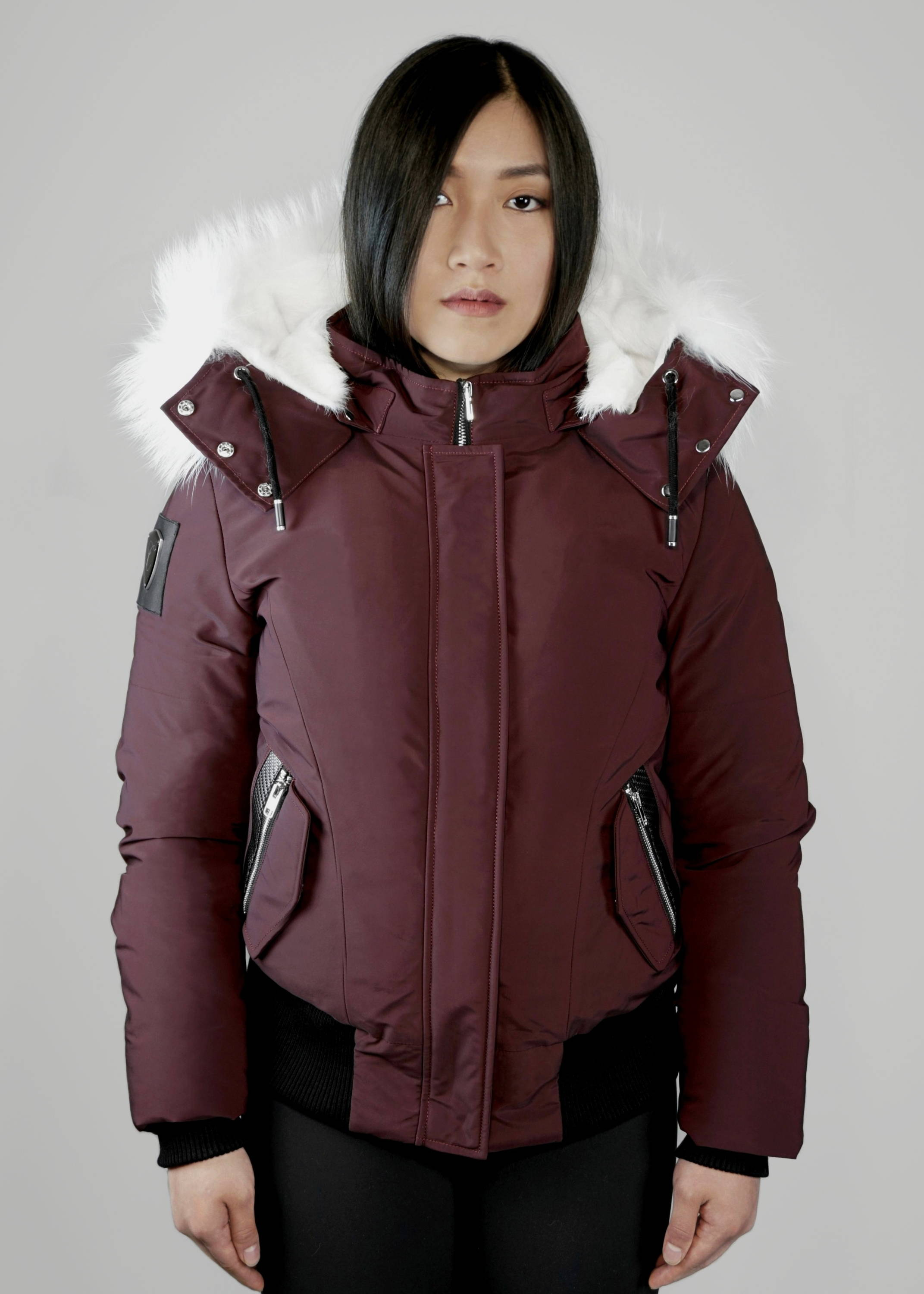 Carbonesque womens celeste goose down bomber