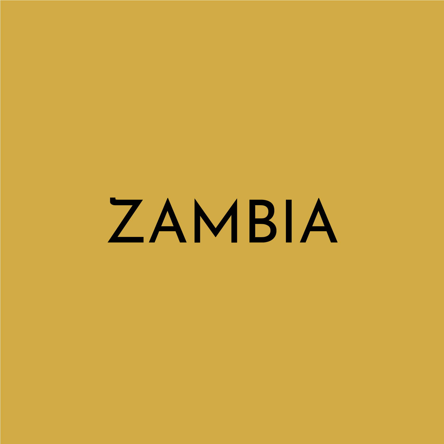"A solid yellow block contains the text ""ZAMBIA"""