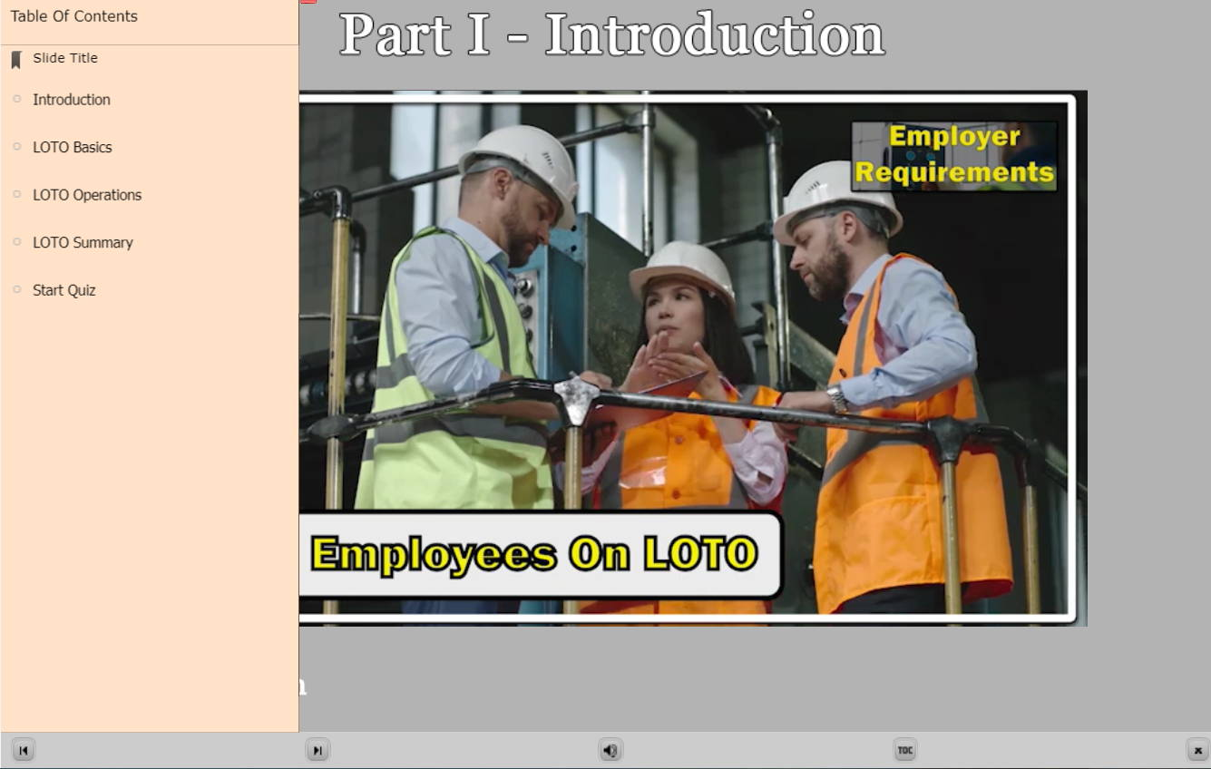 Lockout Tagout E-Learning Introduction