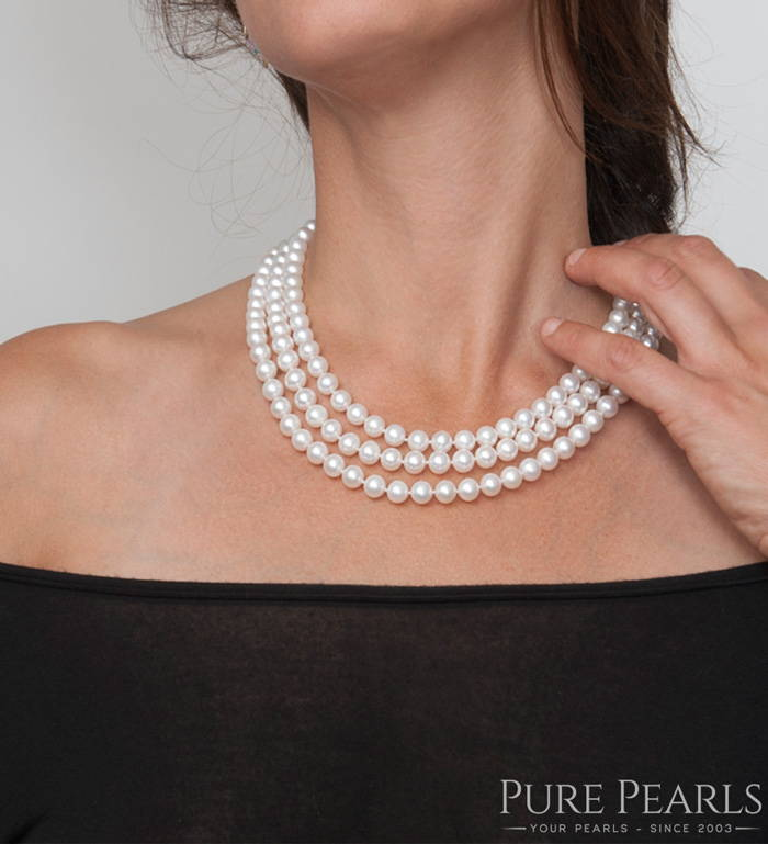 How to Wear a Pearl Rope: Triple Strand Style