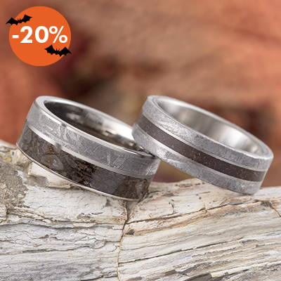 meteorite men's wedding bands