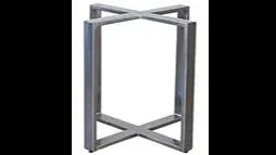 steel cube table base