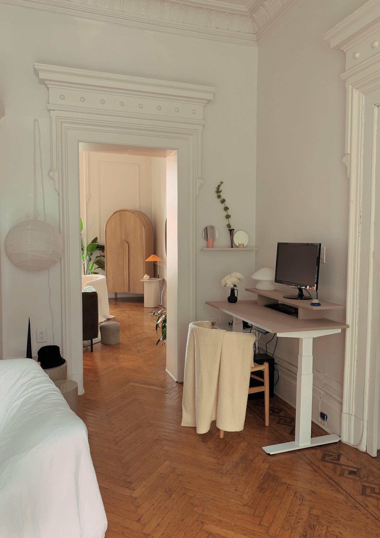 Modern home office setup and decor