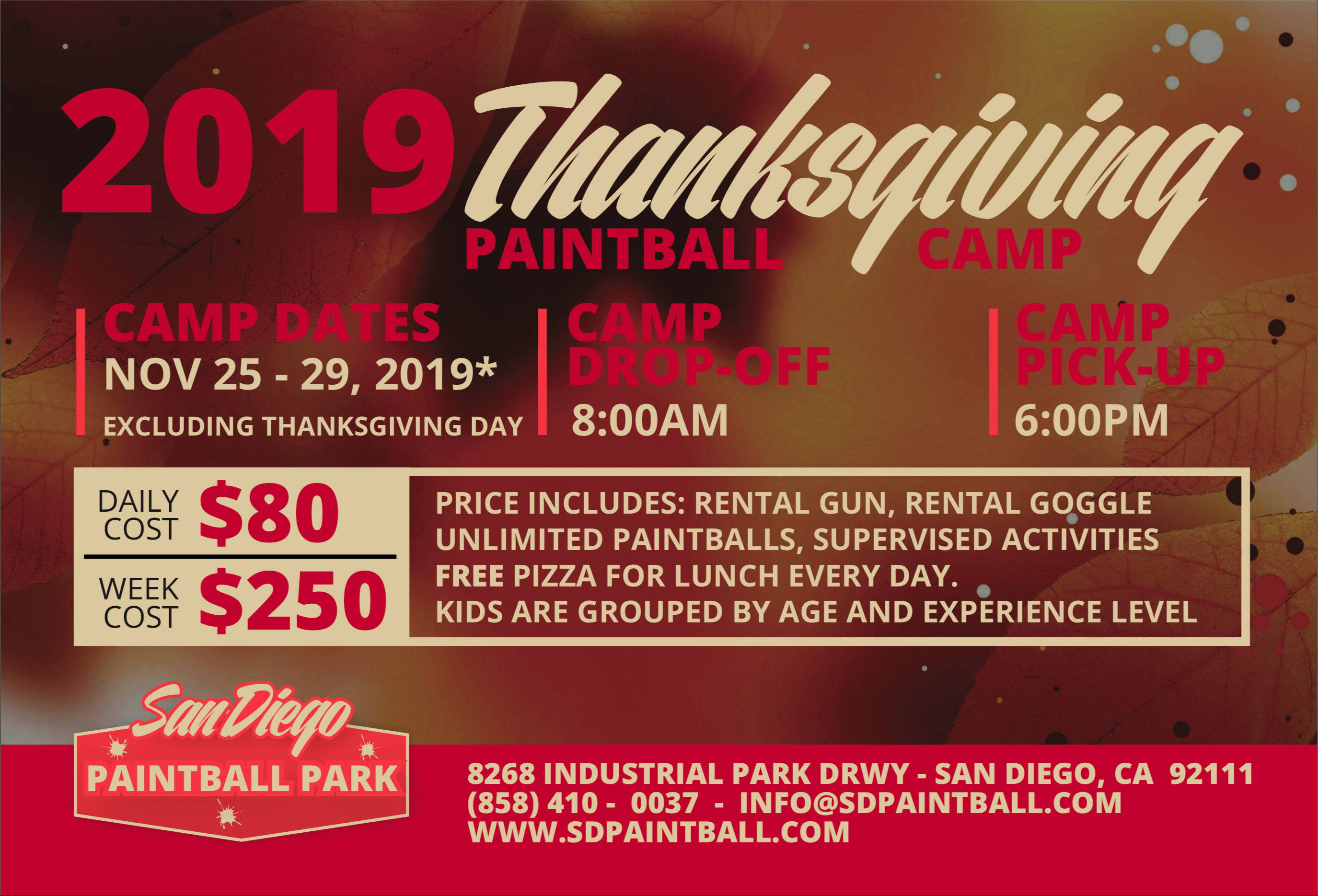 Thanksgiving Paintball Camp