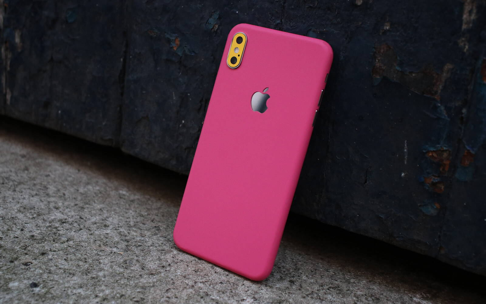 iPhone XS Max True Colour Pink and True Colour Yellow Skins