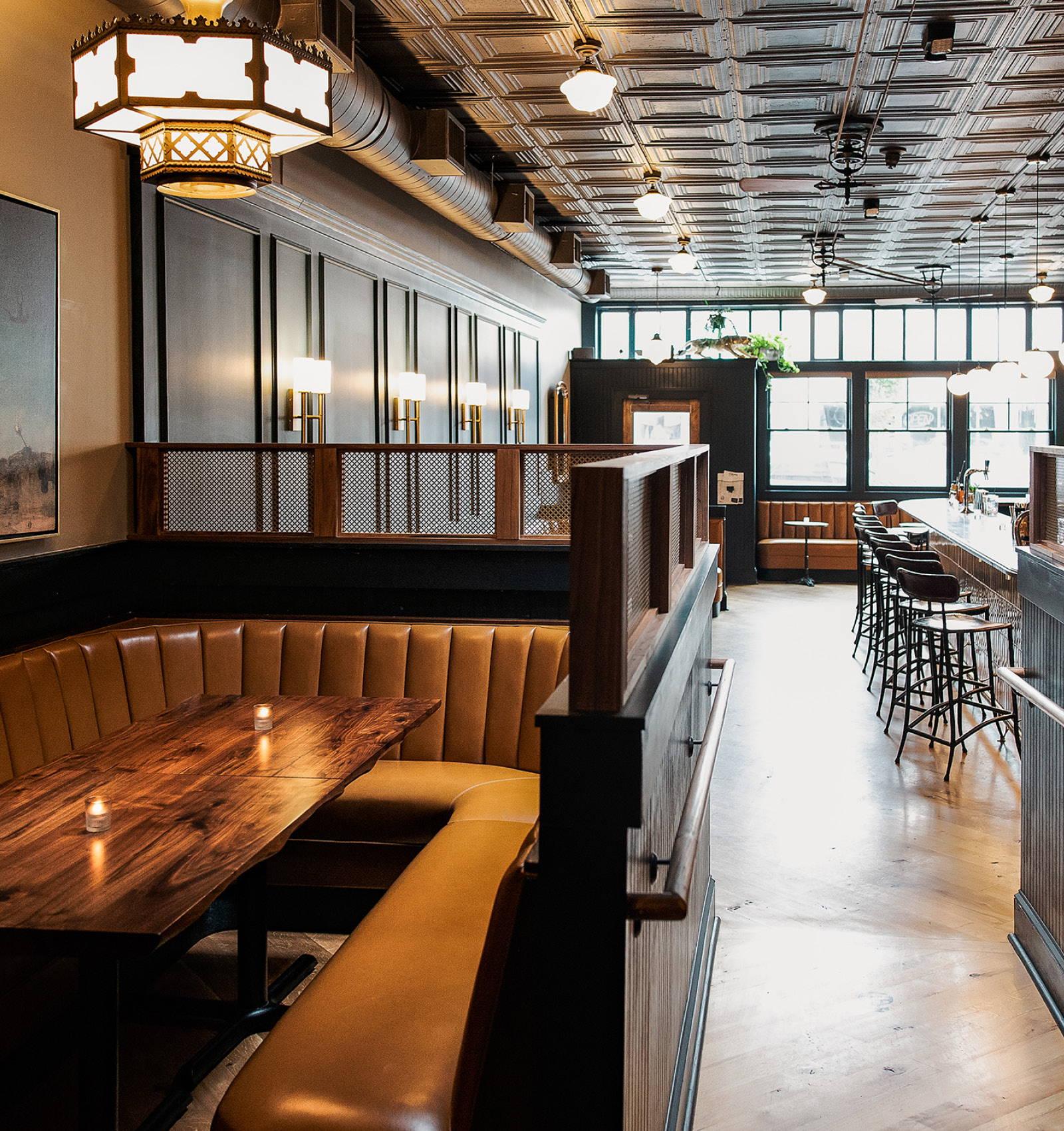 Inside The Jasper, a bar in Richmond Virginia