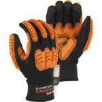 Safety gloves designed to provide specific protections for hands and fingers.