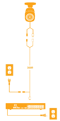 Standard analog extension cable installation diagram