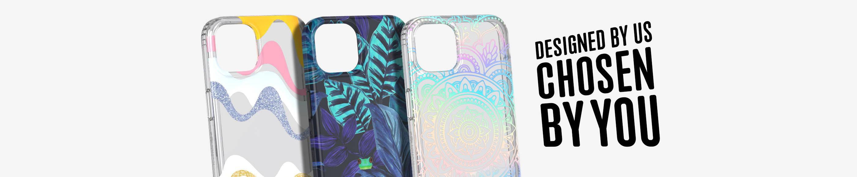 Tech21 Evo Art Wiggle Mandala iPhone 13 cases and Eco Art iPhone 13 Frog case