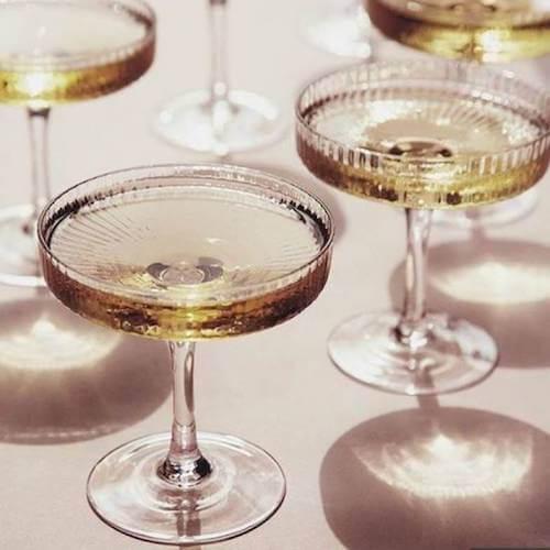 Ferm Living Ripple Champagne Saucer