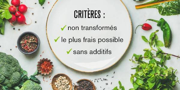 Critères Clean Eating