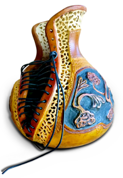 Gourd art by Penny Jacobs Marsh