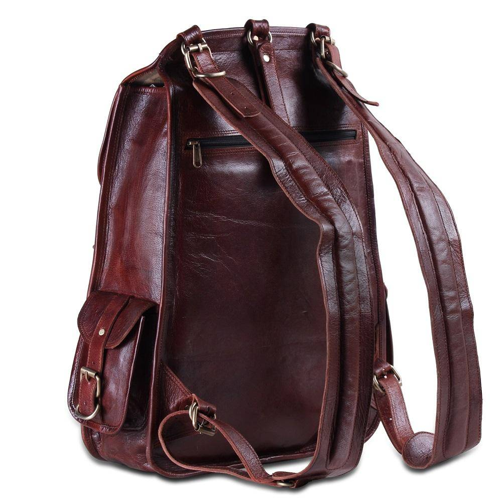 The Western   Leather Backpack for 17 Inch Laptops for Men & Women