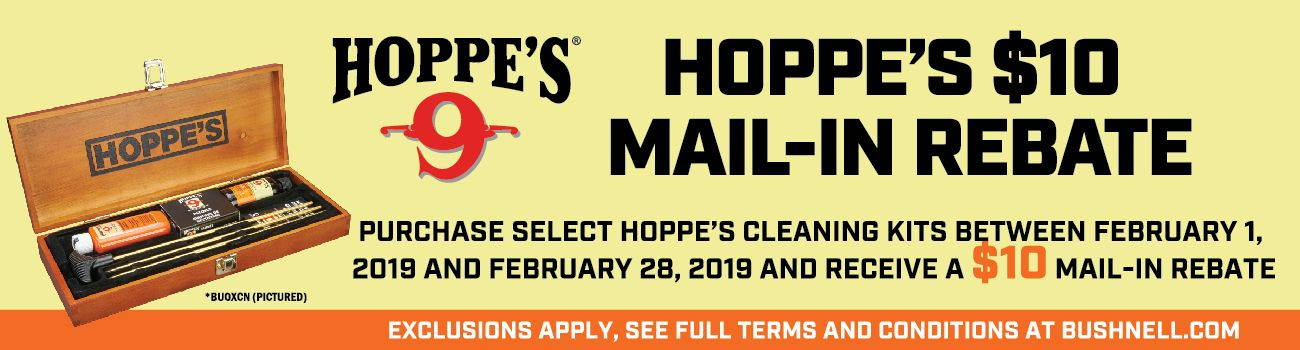 Mail in Rebate for Hoppe's Cleaning Kits!