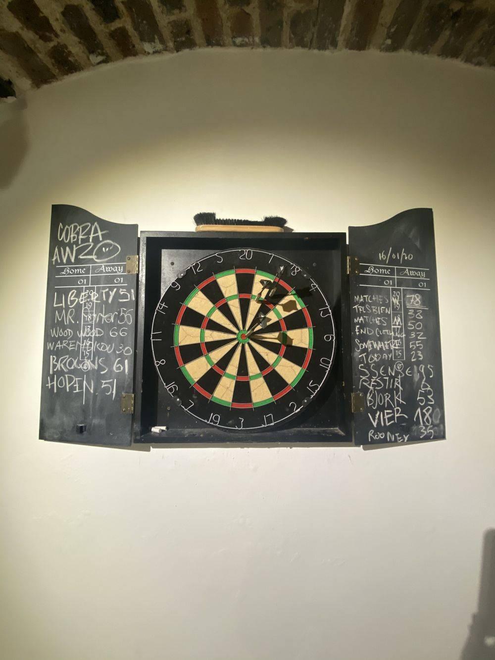 Parisian dart board