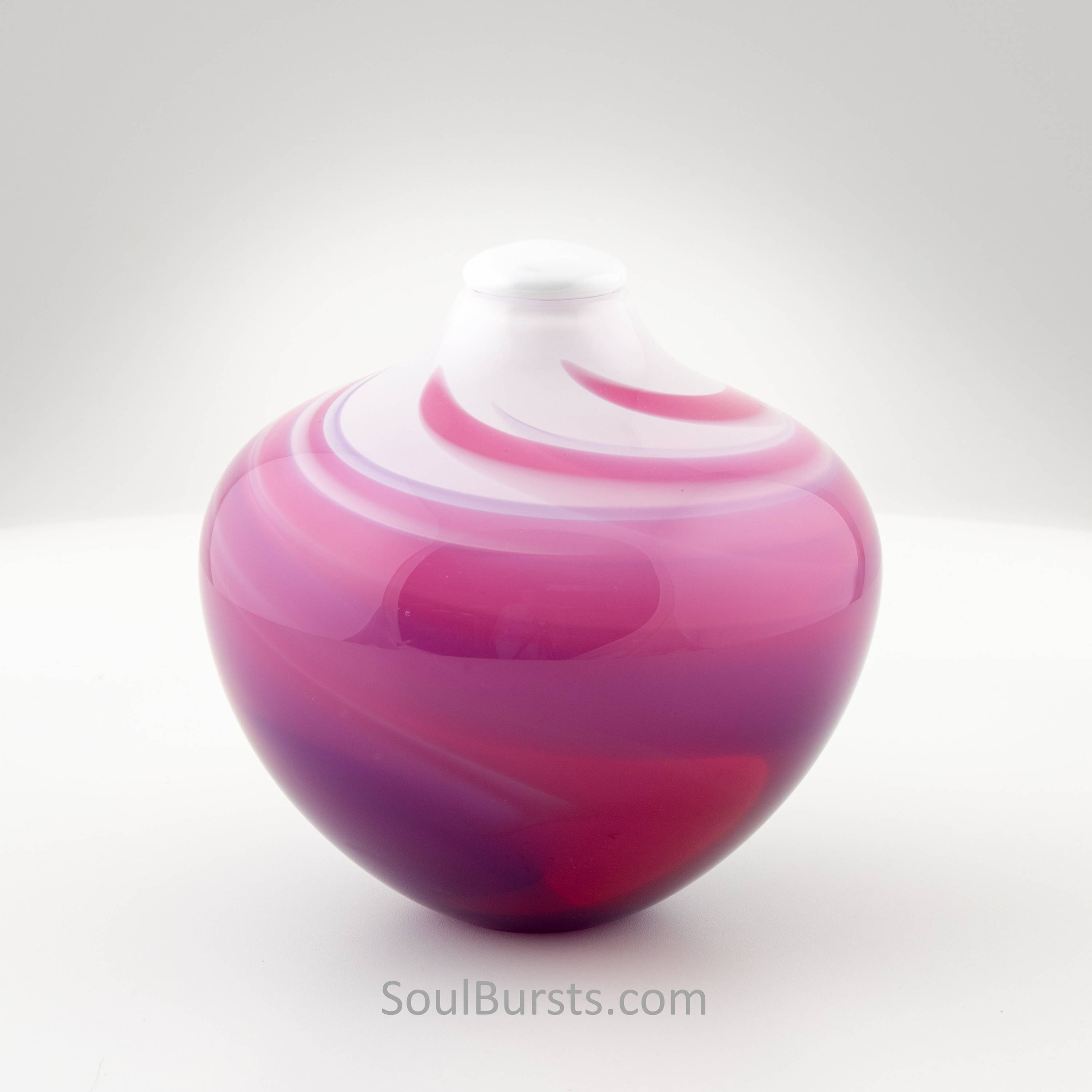 Pink Glass Urn for Ashes
