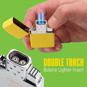 Zippo Double Torch Butane lit in hand