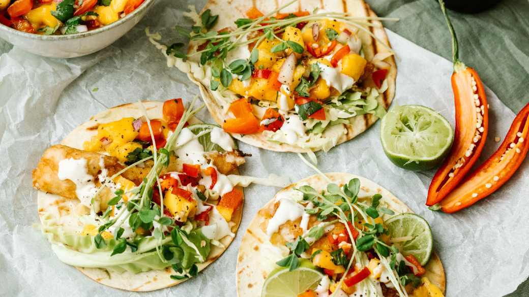Nexba Kombucha Battered Fish Tacos