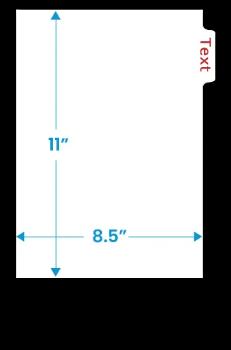 Letter Size Side Tab