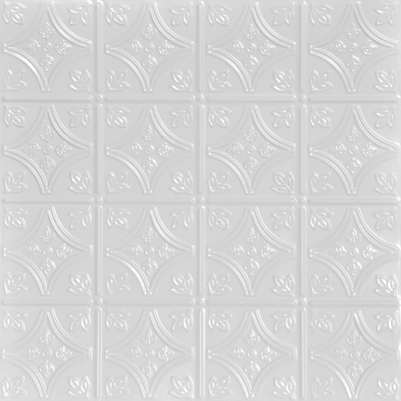Tiny Tiptoe 2 ft x 2 ft Shanko - Wall and Ceiling Patterns - #209 - (Pack of 12) - White