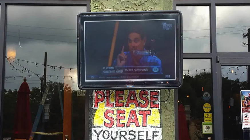 Outdoor TV at restaurant | The Display Shield
