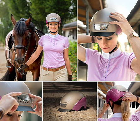 Montage of lady wearing UVEX Riding Hat