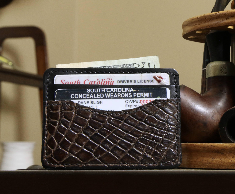 best mens alligator skin credit card holder wallet