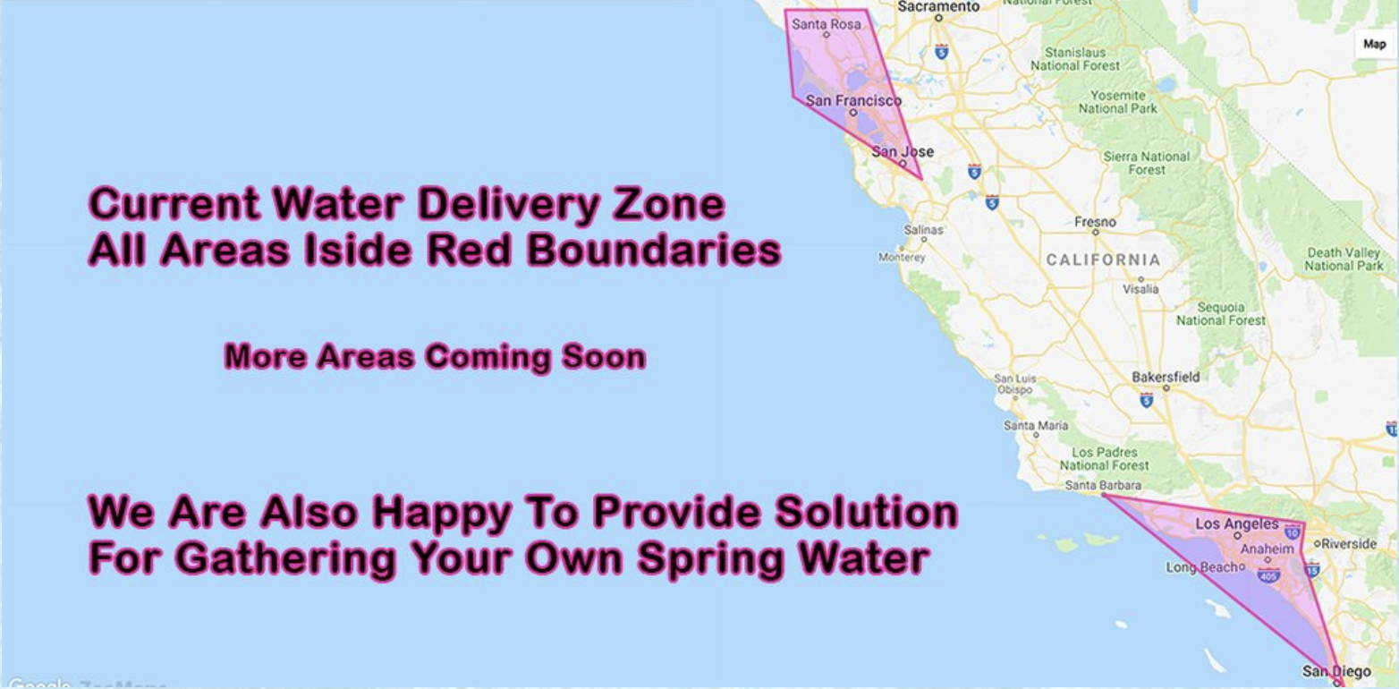 live spring water delivery areas