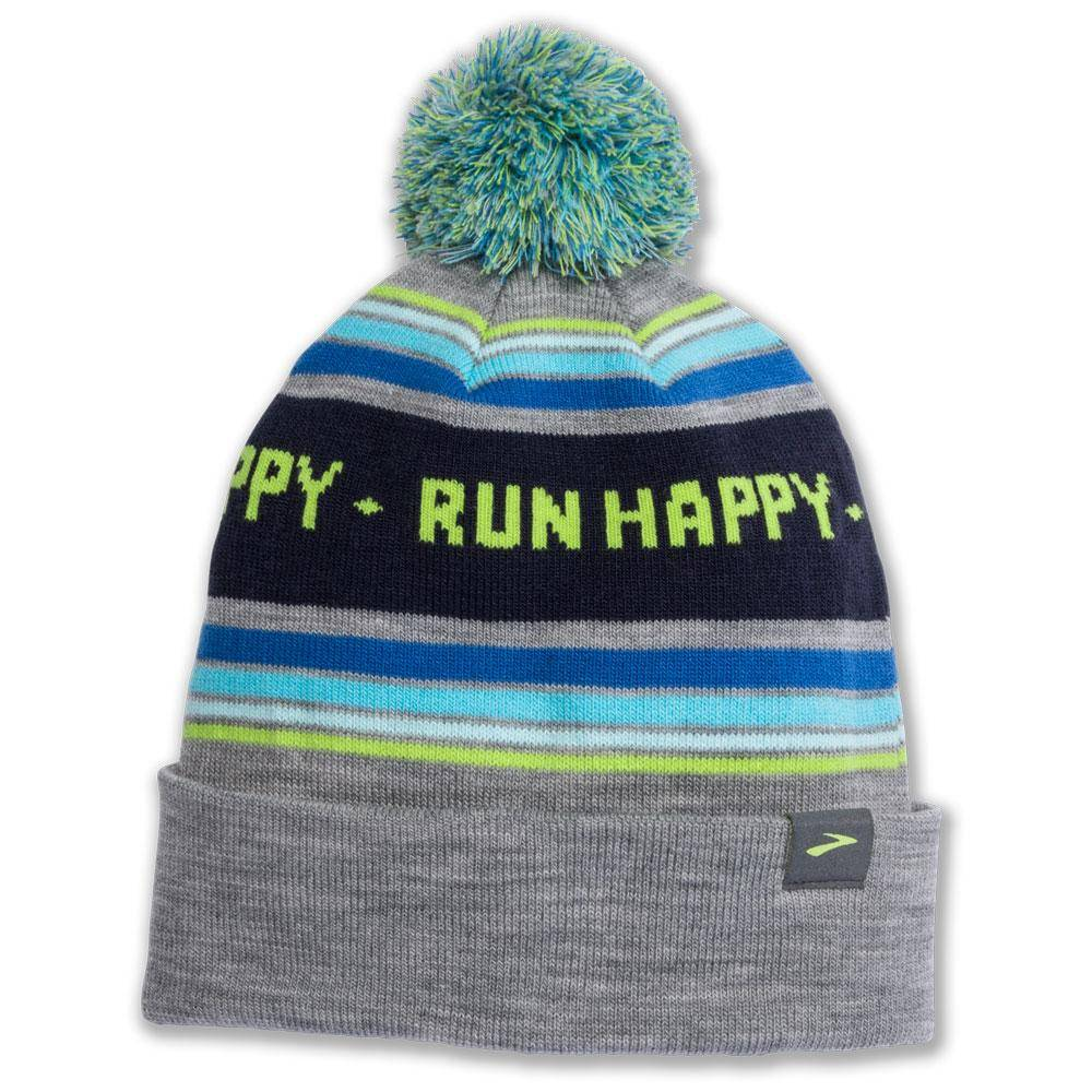 Brooks Booster Pom Beanie Heather Sterling