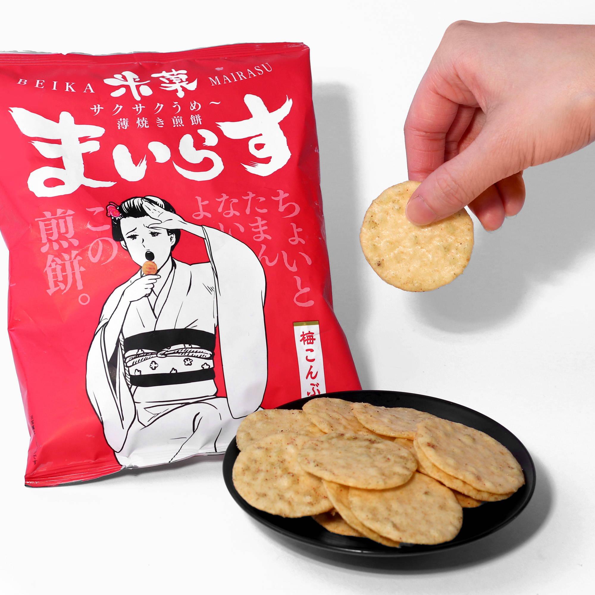 Beika Mairasu Rice Cracker: Plum + Kombu Flavor