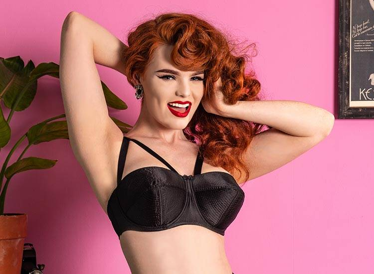 1950s inspired fetish lingerie