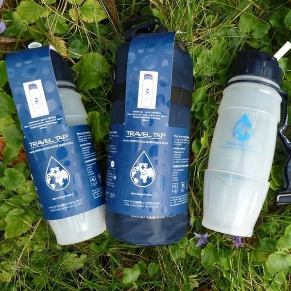 Travel Tap Water Purifier bottles