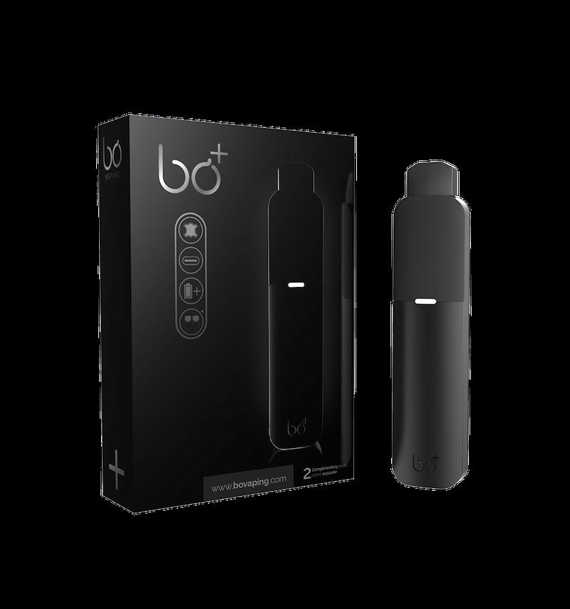Black Soft Touch Bo Plus Vape Kit (Bo+) - Bo Vape