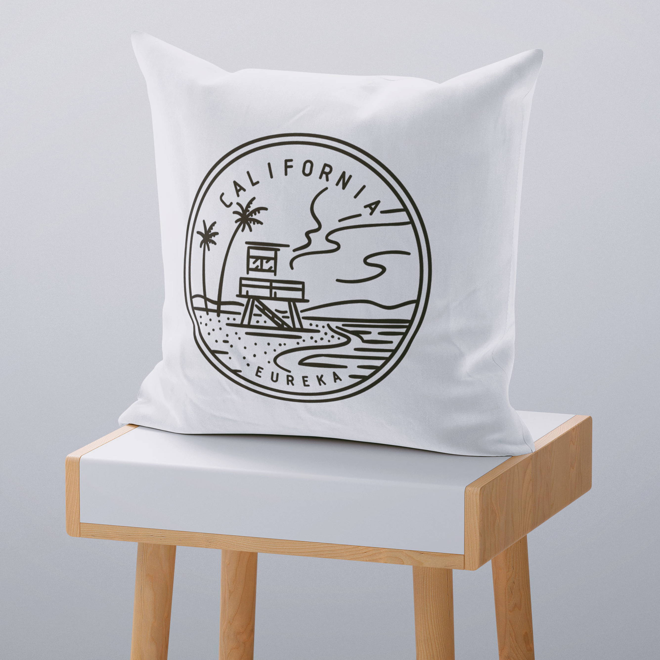 decorative throw pillow cover california state