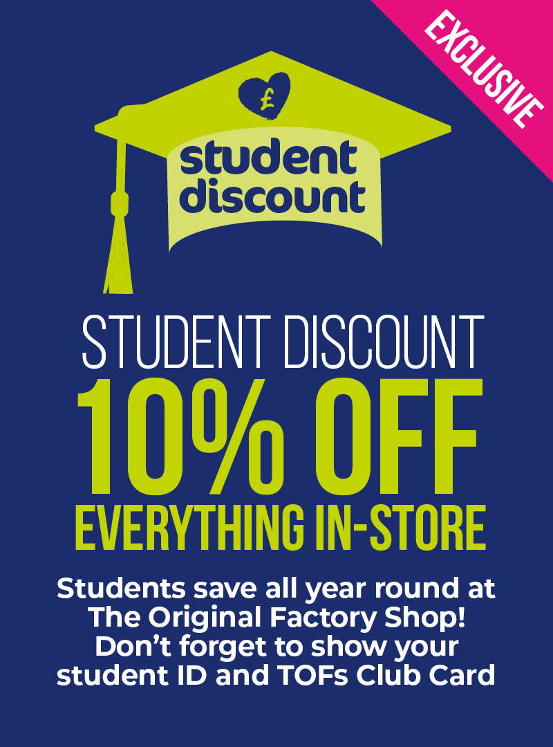 Student Discount - 10% Off Everything In-Store