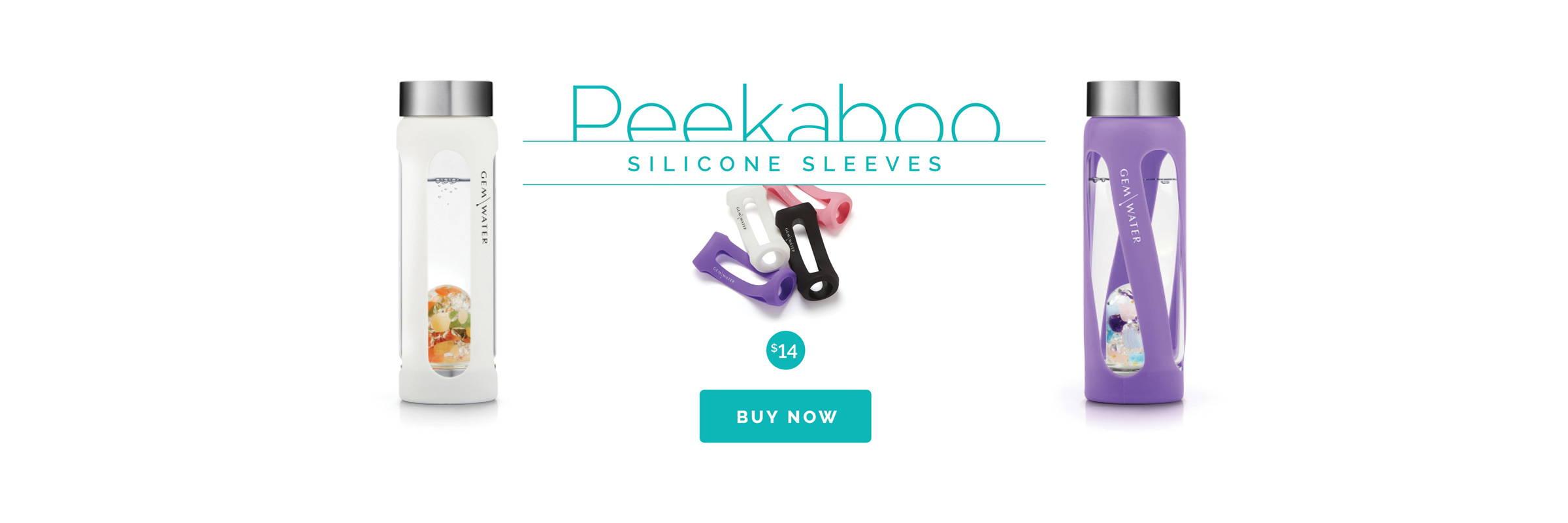 ViA Peekaboo Sleeves for Gem-Water Bottles