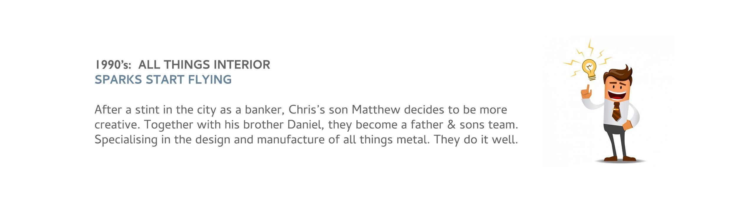 Chris Son Matt Joins Team. Handcrafted Furniture
