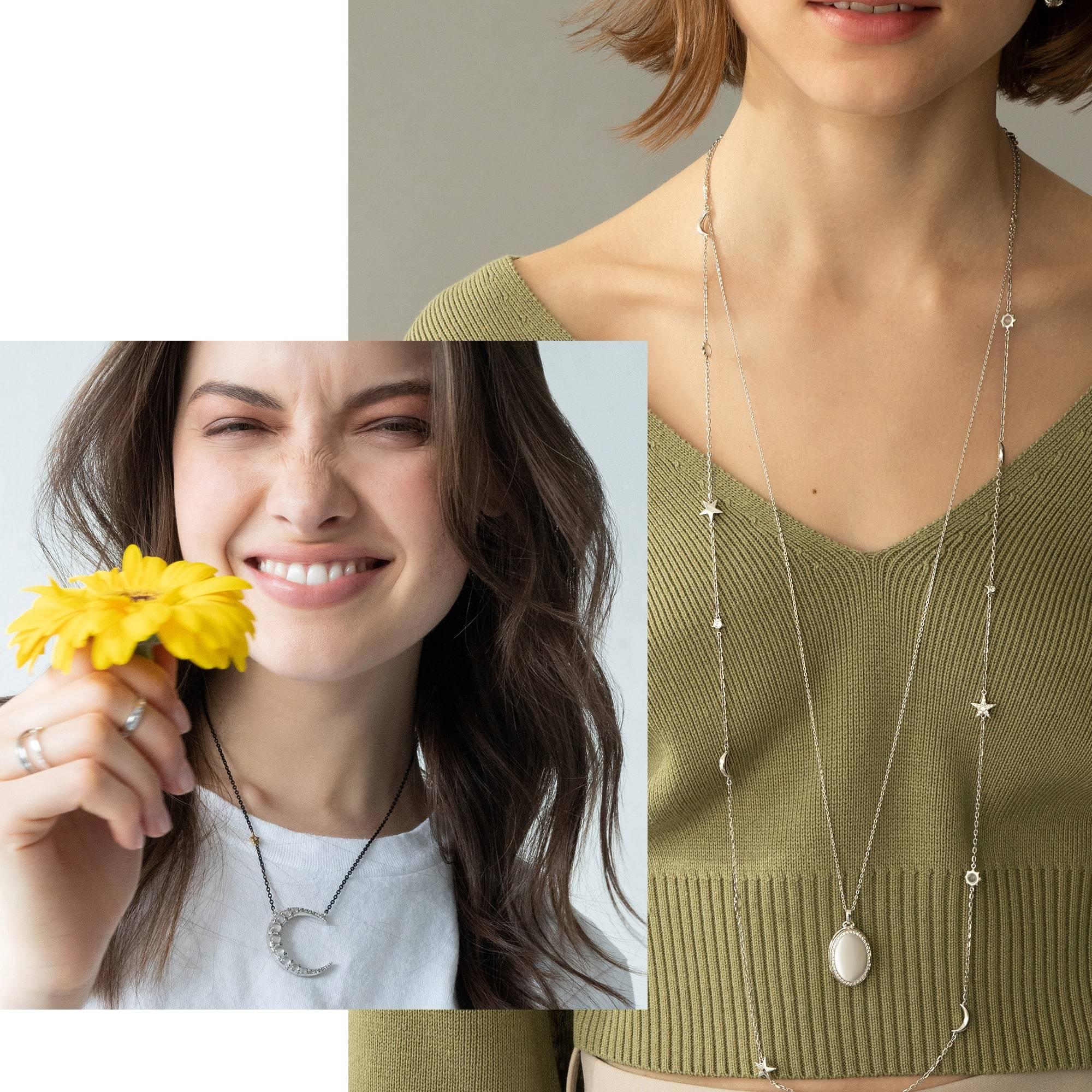 Women in Sterling Silver Jewelry