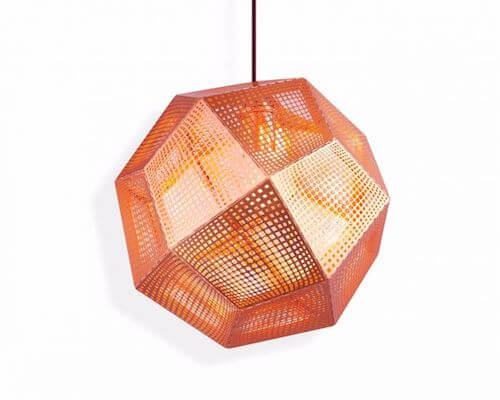 To Dixon Etch Pendant Light in Copper