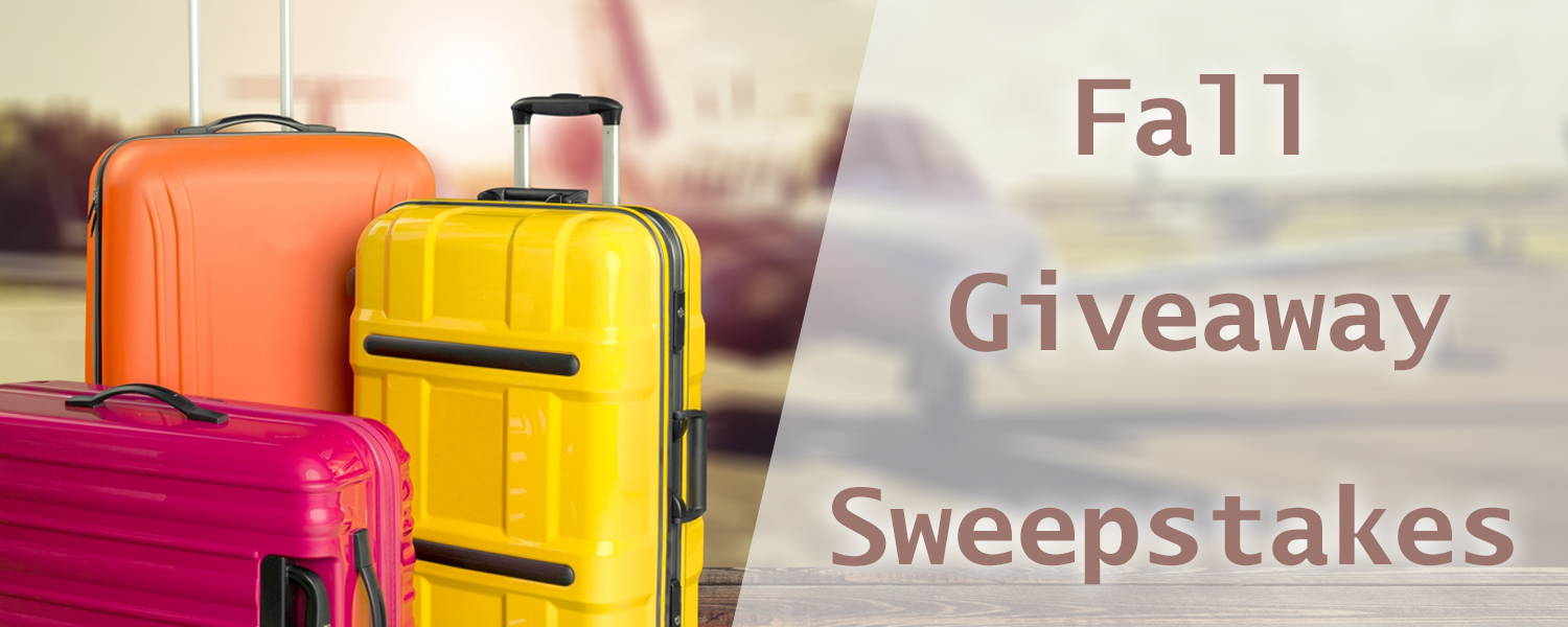 Our Epic Travel Fall Sweepstakes backpack giveaway.