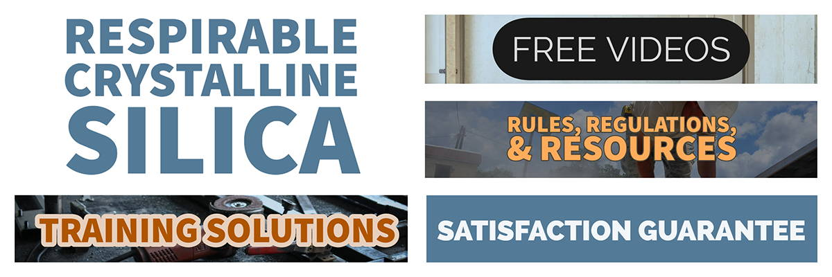 Respirable Crystalline Silica Training and Resources Page Banner