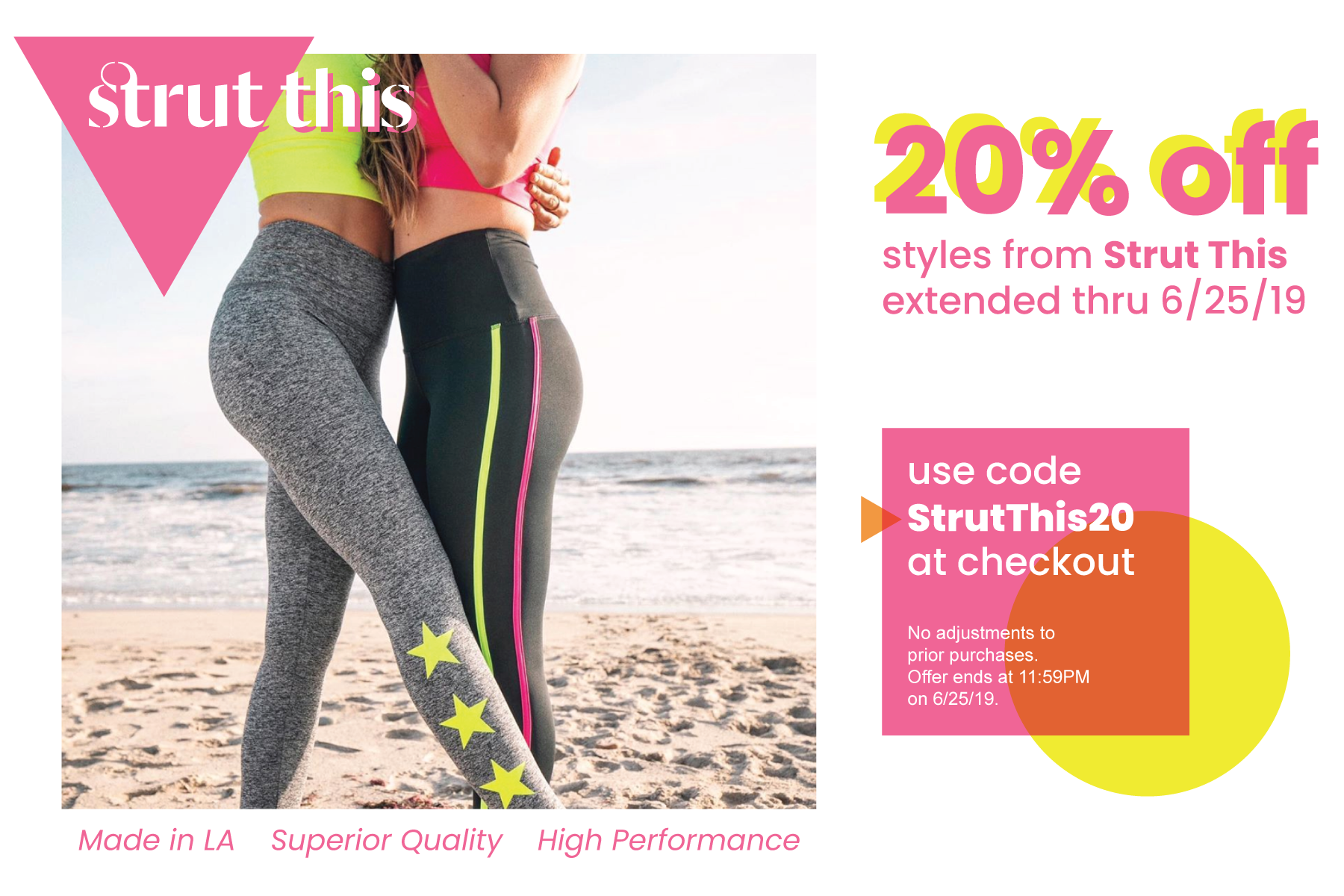Strut This 20% off ends tomorrow