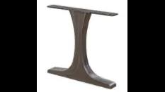 steel T table base